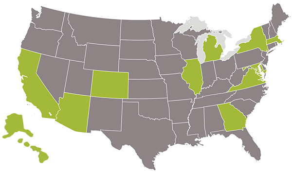 States with the greatest per capita investment in green buildings