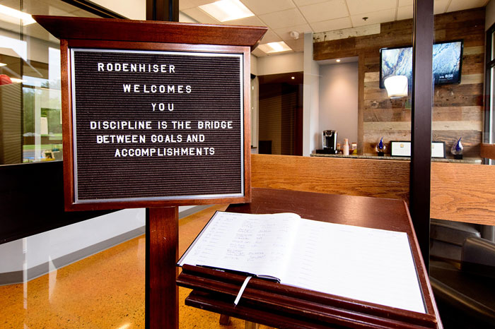Rodenhiser Welcome Sign