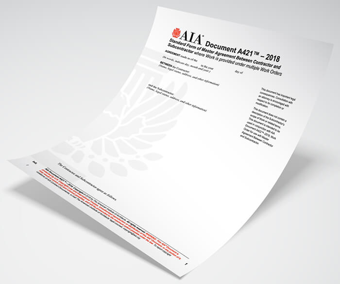 Aia Releases Master Agreement Task Order Suite Of Documents