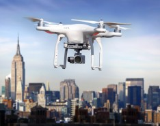 Drone over New York City