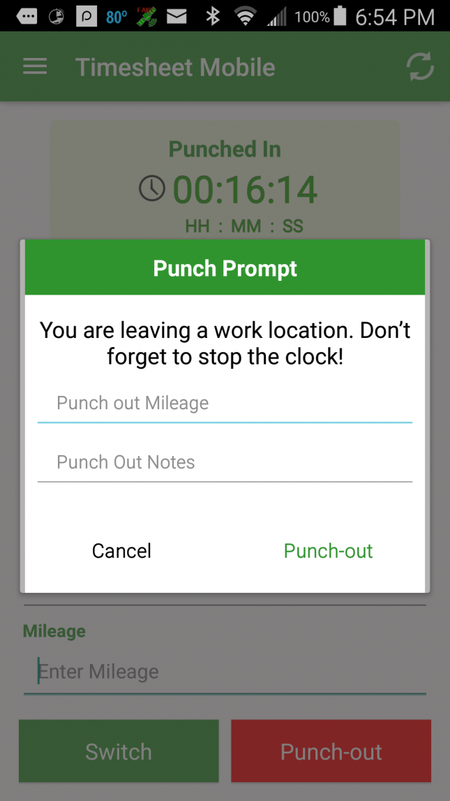 App spotlight timesheet mobile for What does punch out mean in construction